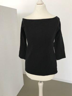 H&M Top épaules dénudées noir coton