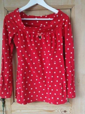 Blutsschwester Koszula typu carmen w kolorze białej wełny-czerwony