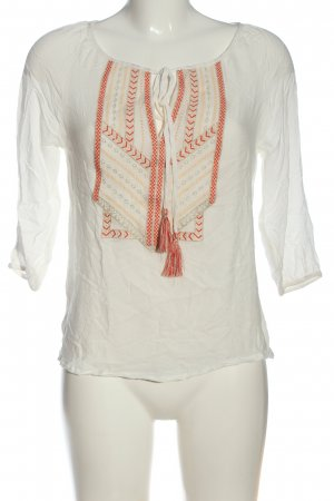 Carminn Blouse à manches longues blanc motif graphique style décontracté