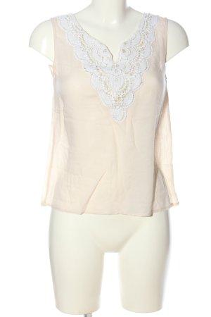 Carminn Slip-over Blouse cream-white weave pattern casual look