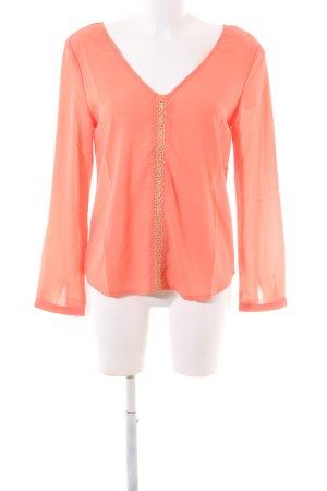 Carminn Transparent Blouse light orange casual look