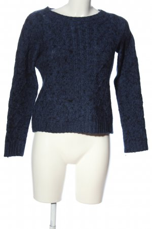 Carnabys Kraagloze sweater blauw casual uitstraling