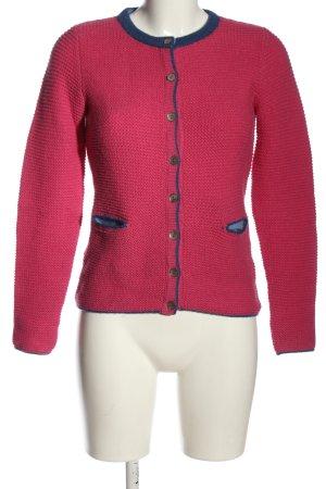 Carnabys Gebreide cardigan roze-blauw casual uitstraling