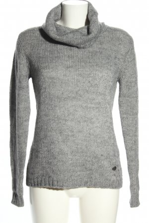 Carnabys Wool Sweater light grey flecked casual look