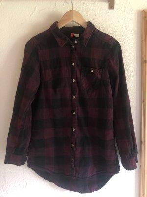 H&M Divided Lumberjack Shirt black-brown violet
