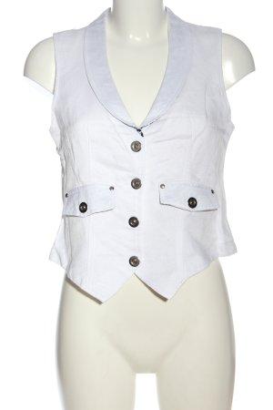 Caro Gilet en jean blanc style décontracté