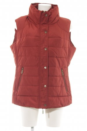 Caro Steppweste rot Casual-Look