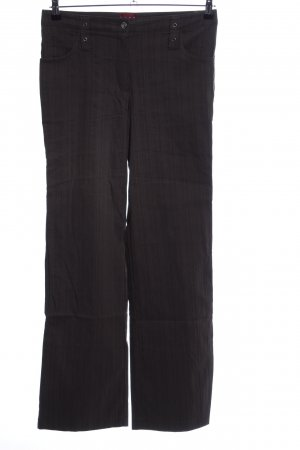 Caro Jersey Pants black striped pattern business style