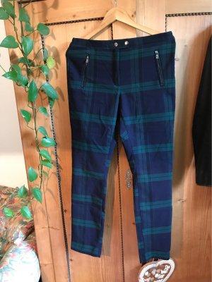 H&M Treggings blu scuro-verde bosco
