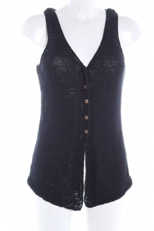 Carole Little Knitted Vest black casual look