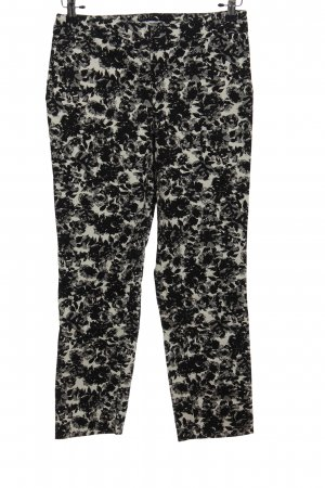 Carolina Belle High Waist Trousers black-white abstract pattern casual look