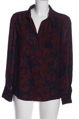Carolina Belle Chemise à manches longues noir-rouge motif abstrait