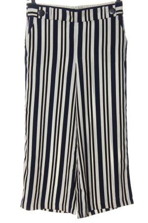 Carolina Belle Pantalon en jersey blanc-bleu imprimé allover