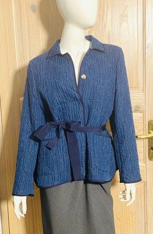 Carolina Herrera Veste en jean bleu foncé coton