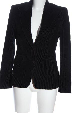 Carolina Herrera Blazer court noir-gris clair motif rayé style d'affaires