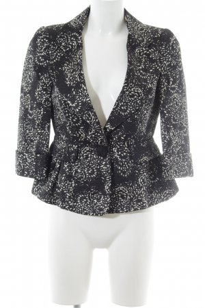 Carolina Herrera Blazer court noir-blanc motif abstrait style d'affaires