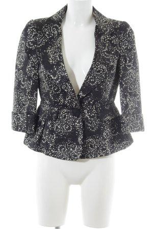 Carolina Herrera Korte blazer zwart-wit abstract patroon zakelijke stijl