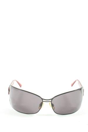 Carolina Herrera Oval Sunglasses black-red printed lettering elegant