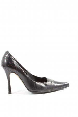 Carolina Herrera Pointed Toe Pumps black-red business style