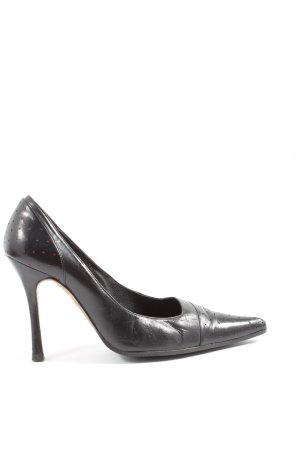 Carolina Herrera Spitse pumps zwart-rood zakelijke stijl