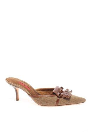 Carolina Herrera Czółenka ze spiczastym noskiem brązowy W stylu casual