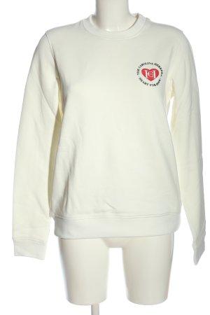 Carolina Herrera Sweat Shirt white embroidered lettering casual look
