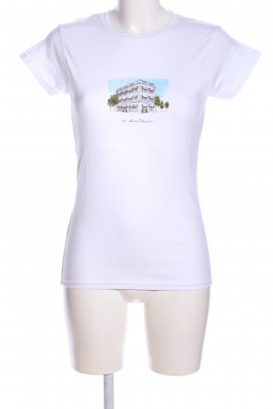 Carolina Herrera T-shirt blanc imprimé avec thème style décontracté