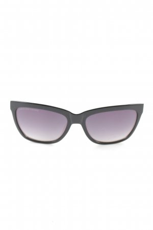 Glasses black-lilac casual look