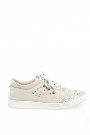 Carolina Lace-Up Sneaker natural white-silver-colored casual look