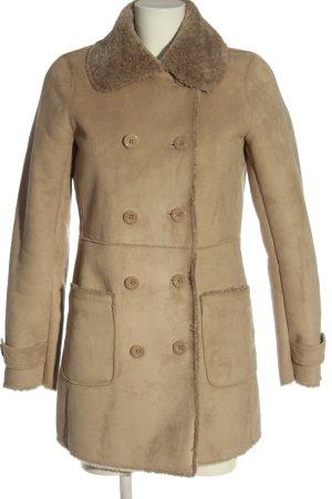 Caroll Długi płaszcz brązowy W stylu casual