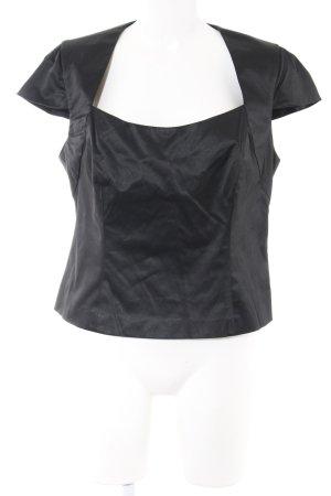 Caroll Kurzarm-Bluse schwarz Elegant