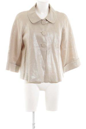Caroll Krótka kurtka kremowy-w kolorze białej wełny Elegancki
