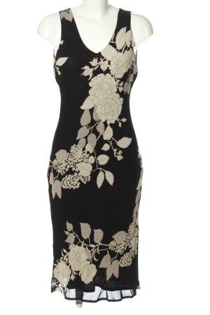 Caroll Sukienka koszulowa czarny-kremowy Wzór w kwiaty Elegancki
