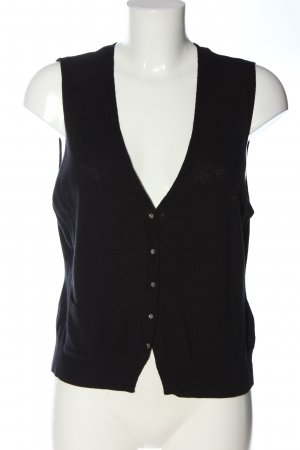 Caroll Knitted Vest black wool