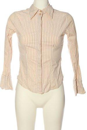 Carpe Diem Chemise à manches longues blanc cassé-rouge motif rayé