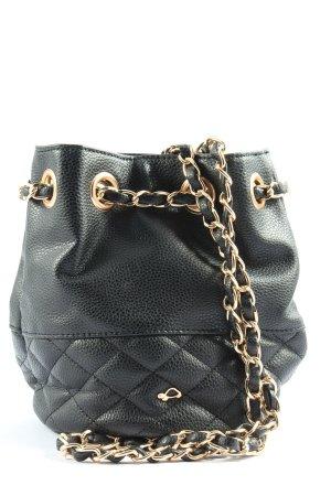 Carpisa Crossbody bag black quilting pattern casual look