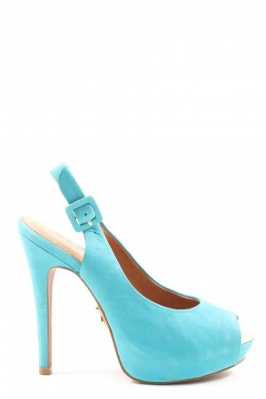 Carrano Peep Toe Pumps blauw elegant