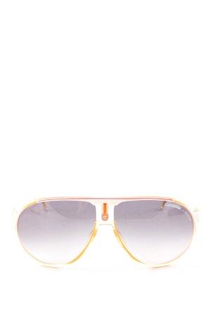 Carrera Lunettes orange clair-blanc style décontracté