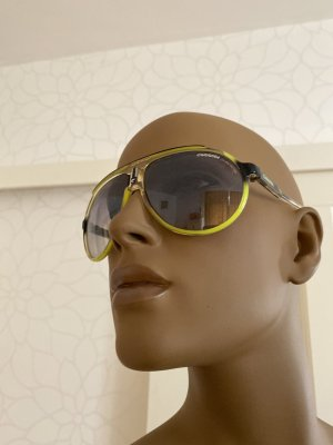 Carrera Oval Sunglasses yellow synthetic material