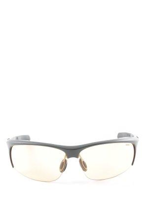 Carrera eckige Sonnenbrille schwarz-karminrot sportlicher Stil
