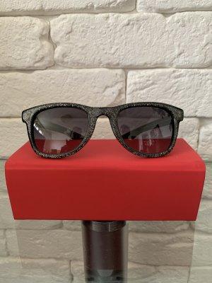 Jimmy Choo Gafas de sol cuadradas negro-color plata