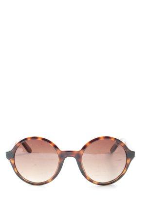 Carrera Gafas de sol redondas estampado con diseño abstracto look casual