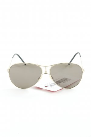 Carrera Pilotenbril goud-donkergroen casual uitstraling