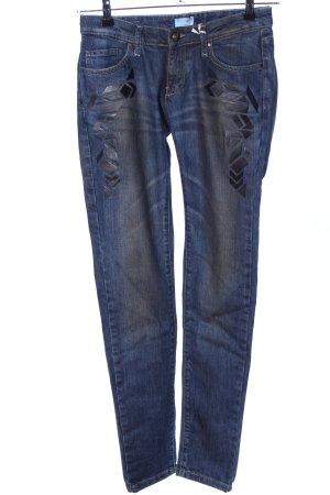Carrera Skinny jeans blauw-zwart casual uitstraling