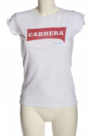 Carrera T-Shirt white-red printed lettering casual look