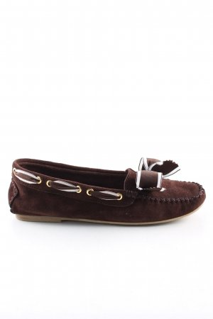 Carrière Moccasins brown-white striped pattern casual look