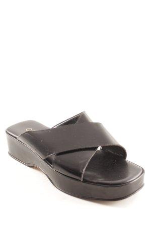 Carrière Sandalo con plateau nero elegante