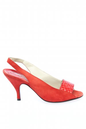 Carrière Slingback-Pumps rot Business-Look