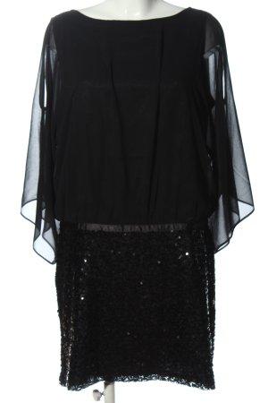 Carry Allen by Ella Singh Robe à paillettes noir style extravagant
