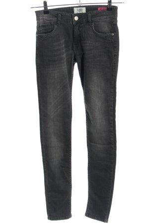 Cars Jeans Skinny Jeans hellgrau Schriftzug gedruckt Casual-Look